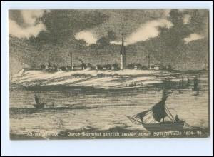V2008/ Alt-Wangerooge durch Sturmflut zerstört 1854-55 AK ca.1910