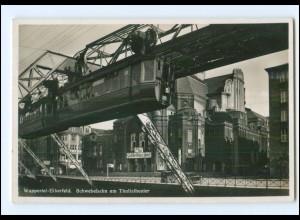 Y20319/ Wuppertal-Elberfeld Schwebebahn 1938 Foto AK