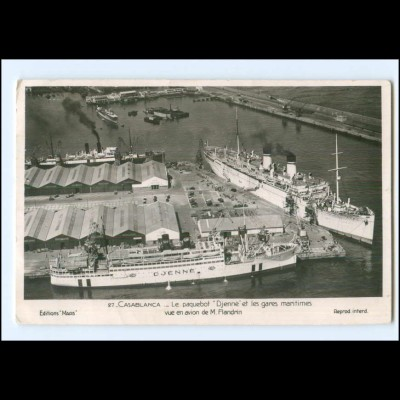 Y20493/ Casablanca Marokko Dampfer Djenne Foto AK ca.1955