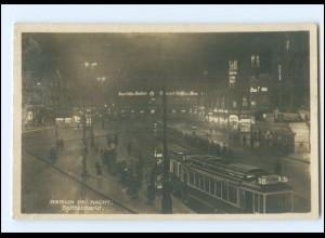 V2037/ Berlin bei Nacht Spittelmarkt Straßenbahn Foto AK 1935