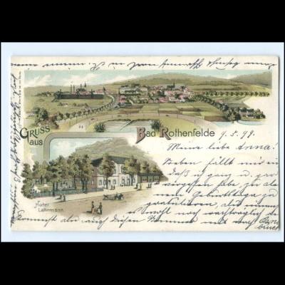 Y20466/ Gruß aus Bad Rothenfelde Litho 1899 AK
