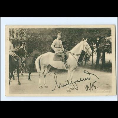 Y20467/ Kronprinz Wilhelm zu Pferde Unterschrift Faksimile AK 1915