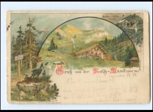 Y20636/ Gruß von der Roth-Wand Rotwand Böcklein Hütte Litho AK 1898
