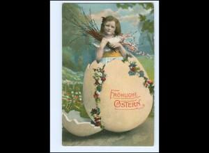 Y20228/ Ostern Mädchen Osterei AK 1910