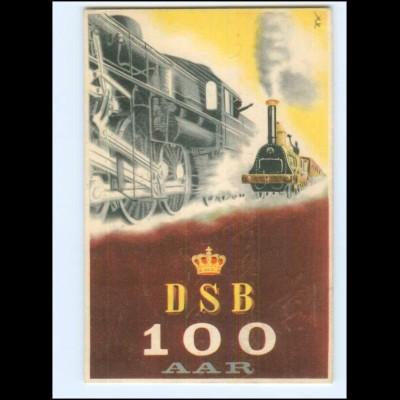 V2034/ Eisenbahn AK DSB 100 Aar Kopenhagen Dänemark 1947 Jubil.-Ausstellung