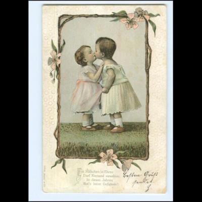 Y20462/ Kinder zwei Mädchen Litho Präge AK 1903
