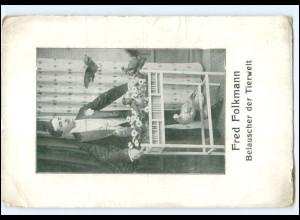 Y20492/ Fred Folkmann Belauscher der Tierwelt Tauben AK ca.1910