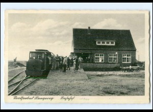XX15265/ Nordseebad Langeoog Bahnhof Eisenbahn Inselbahn AK 1940