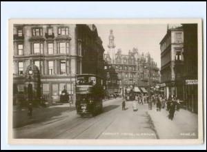 Y20735/ Glasgow Charing Cross Tram Straßenbahn Foto AK ca.1920 Schottland