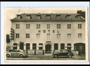 V2082/ Köln Hotel Restaurant Schäfer Riehlerstraße Foto AK 1953 VW Käfer, Opel