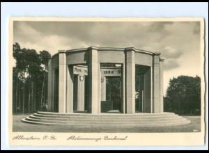 V207/ Allenstein Abstimmungs-Denkmal Ostpreußen Foto AK ca.1938
