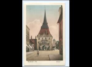 Y20739/ Rostock Steintor Fahrrad AK ca. 1912