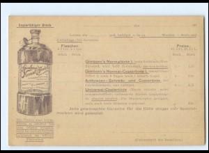 Y20726/ Ganzsache Gimborn`s Tinte Chemische Fabrik in Emmerich AK ca.1898