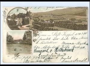 Y20728/ Gruß aus Stift Keppel bei Hilchenbach Litho AK 1895