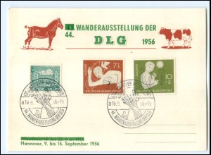 Y20654/ Hannover Wander-Ausstellung der DLG 1956 Postkarte AK