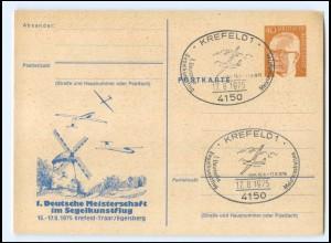 Y20660/ Krefeld-Traar 1. Dt. Meisterschaft im Segelkunstflug 1975 Windmühle