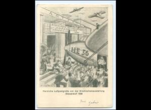 Y20661/ Privatganzsache Briefmarken-Ausstellung Düsseldorf 1936 PP140 C1