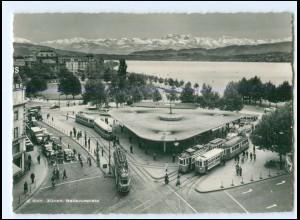 Y20663/ Zürich Bellevueplatz Straßenbahn AK 50er Jahre Schweiz