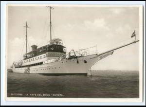 "Y20669/ Riccione La Nave del Duce ""Aurora"" Dampfer Foto AK ca.1935"