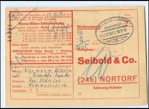 Y20674/ Honighaus Seibold & Co. Nortorf Bestell AK für Honig 1959