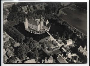 ZZ-5543/ Jugendburg bei Borken seltenes Foto Luftbild 18 x 13 cm