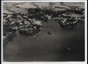 ZZ-5546/ Schwerin Lankow seltenes Foto Luftbild 18 x 13 cm