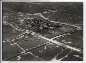 ZZ-5552/ Hallig Hooge Hauswarft seltenes Foto Luftbild 18 x 13 cm