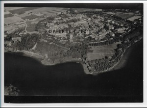 ZZ-5555/ Mohrin b. Königsberg / Neumark seltenes Foto Luftbild 18 x 13 cm