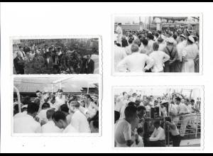 Y20104/ 4 x Foto Tampico Mexico, Radio-Nachrichten vom Polenfeldzug 1939