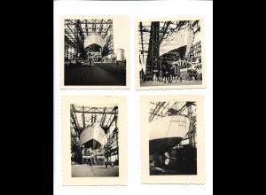 Y20103/ 4 x Foto Howaldt Werft Stapellauf Dampfer Al-Malik Saud Al-Awil 1952