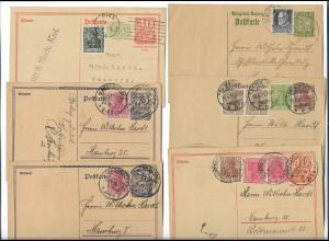 Y20105/ 54 x Postkarten Ganzsachen Deutschland 1917-22 u.a. Inflation