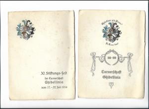 C4572/ Studentika Turnerschaft Ghibellinia München 1909/14 Festordnung