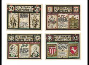 XX15063/ 4 x Notgeldschein Paderborn 1921