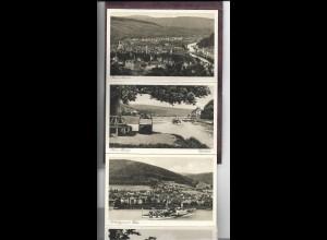 Y20110/ Die Weser von Hann Münden - Hameln Leporello mit 20 AK ca.1925