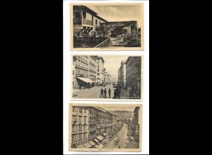 Y20112/ 3 x AK Trieste Italien ca. 1940