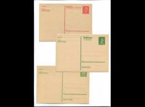 Y20124/ 3 x DR Ganzsache mit Antwortkarte