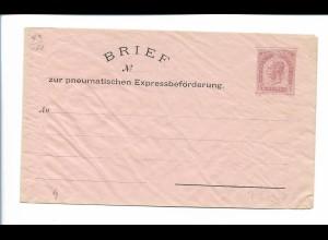 Y20119/ Alter Brief zur pneumatischen Expressbeförderung 15 Kreuzer Österreich