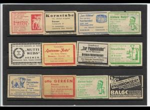 C4574/ 68 Zündholzetiketten Bremen 60er Jahre