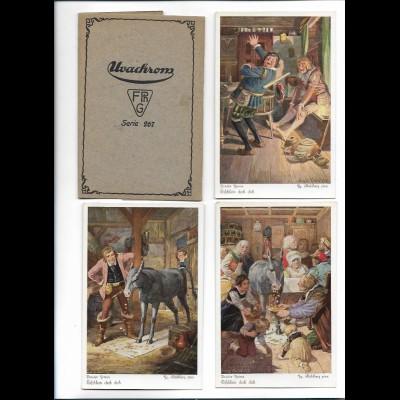 Y20625/ 6 x AK Serie Märchen Tischlein deck dich - Brüder Grimm Uvachrom Nr. 267