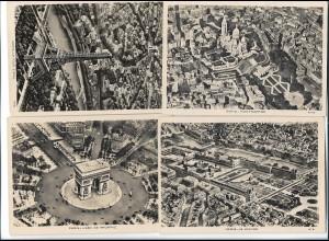Y20762/ 4 x Foto AK PARIS ca.1940 freigegeben durch R.L.M.
