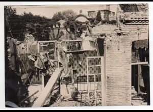 Y654/ Lesle Region Picardie zerstörtes Haus durch Bombenabwurf Foto 1. Weltkrieg
