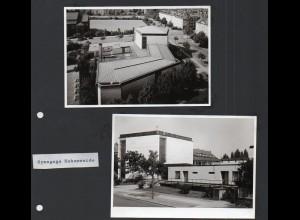 C1595 AK/ 2 x Foto Hamburg Eimsbüttel Hohe Weide Synagoge ca.1965 12,5 x 9 cm
