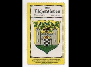 Y848/ Aschersleben Reklamemarke Wappen ca.1920