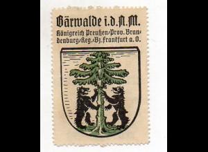 Y857/ Bärwalde o.d. Neumark Wappen Reklamemarke ca.1920