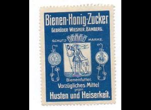 Y862/ Bienen-Honig-Zucker Gebr. Wiesner, Bamberg Reklamemarke ca.1912