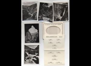 Y1313/ 12 Fotos Norwegen Eidfjord - Maarbödal - Fossli ca.1930 9 x 7 cm