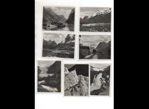 Y1314/ 12 Fotos Norwegen Olden - Brixdal ca.1930 9 x 7 cm