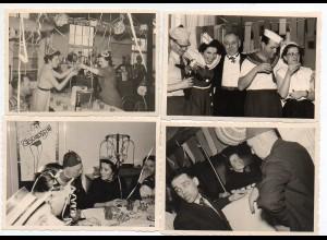 Y1214/ 4 x Privat Foto Karneval Fasching 1956