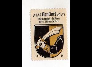 Y959/ Arnstorf Nieberayern Reklamemarke Wappen ca.1920