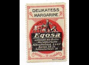 Y999/ Reklamemarke Egosa Margarine Berlin ca.1910